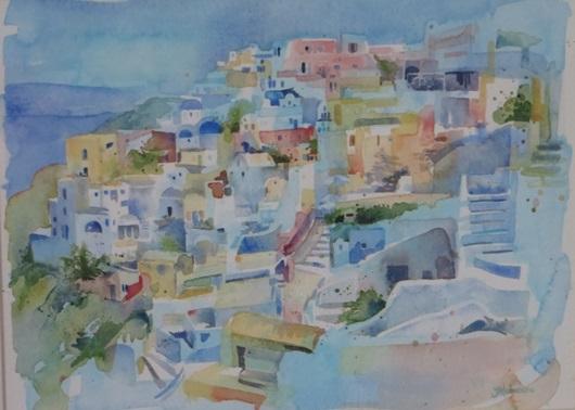 Sunlit Santorini