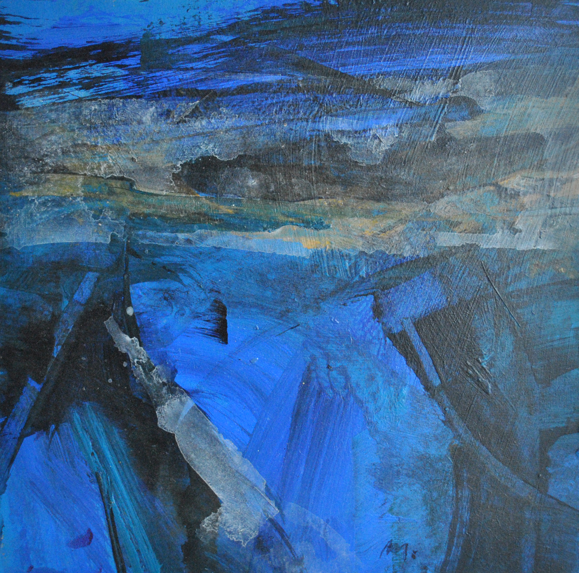 Deep Blue II acrylic on board