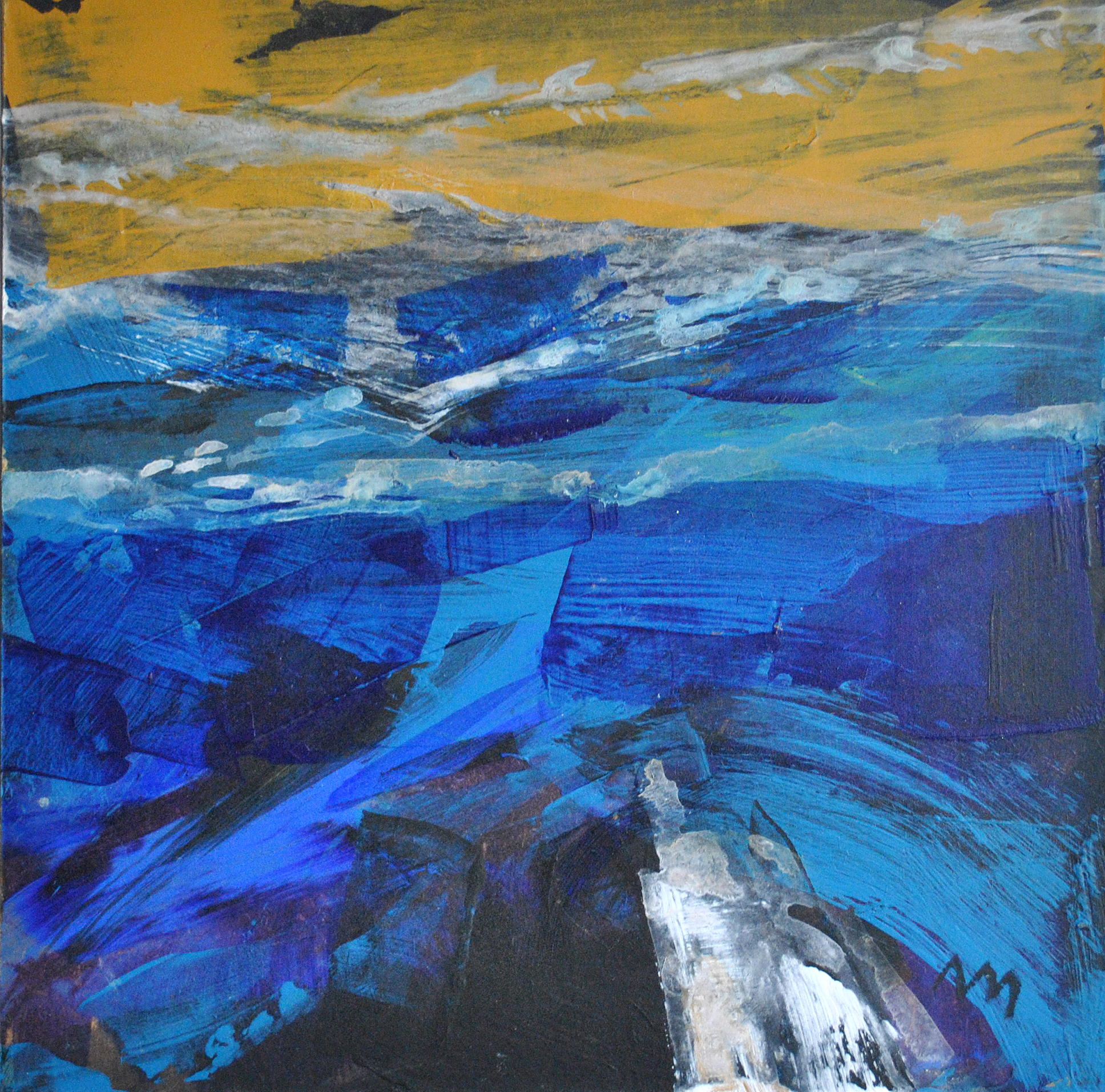 Deep Blue acrylic on board