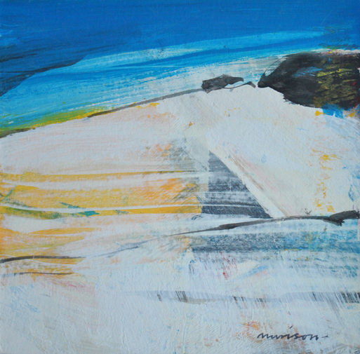 Windswept Beach acrylic on card