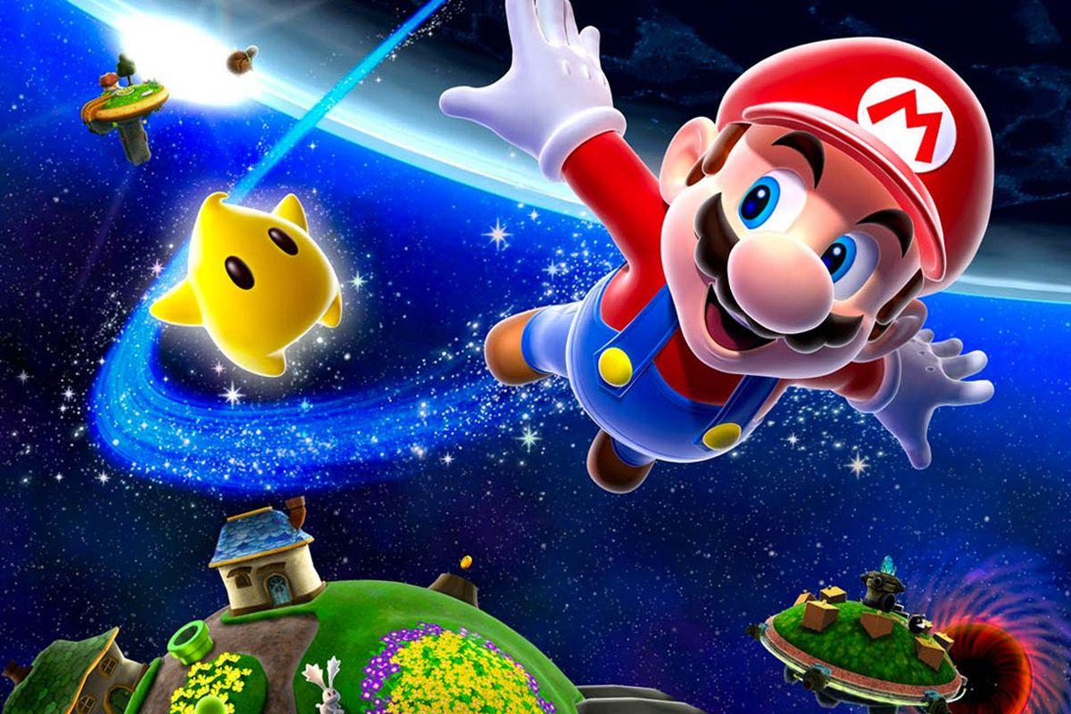 Super Mario Galaxy Cover Art