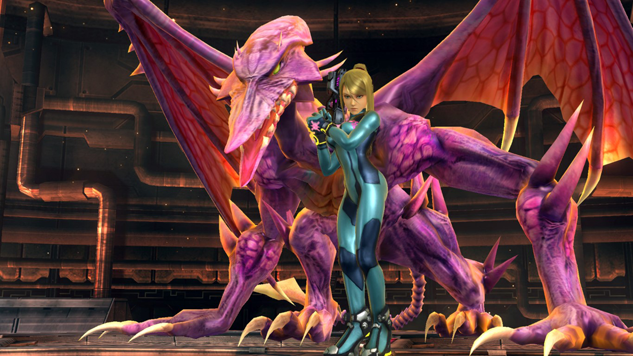 Ridley left, Samus Right