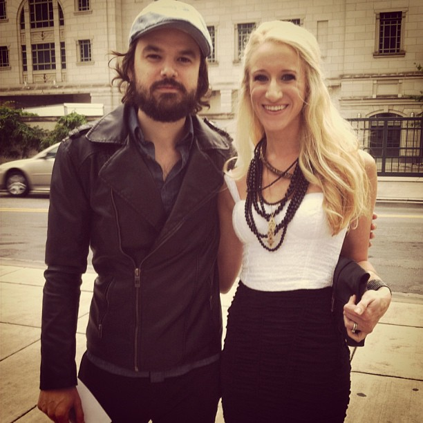 Beauty and the beard at the KLOVE awards in Nashville.