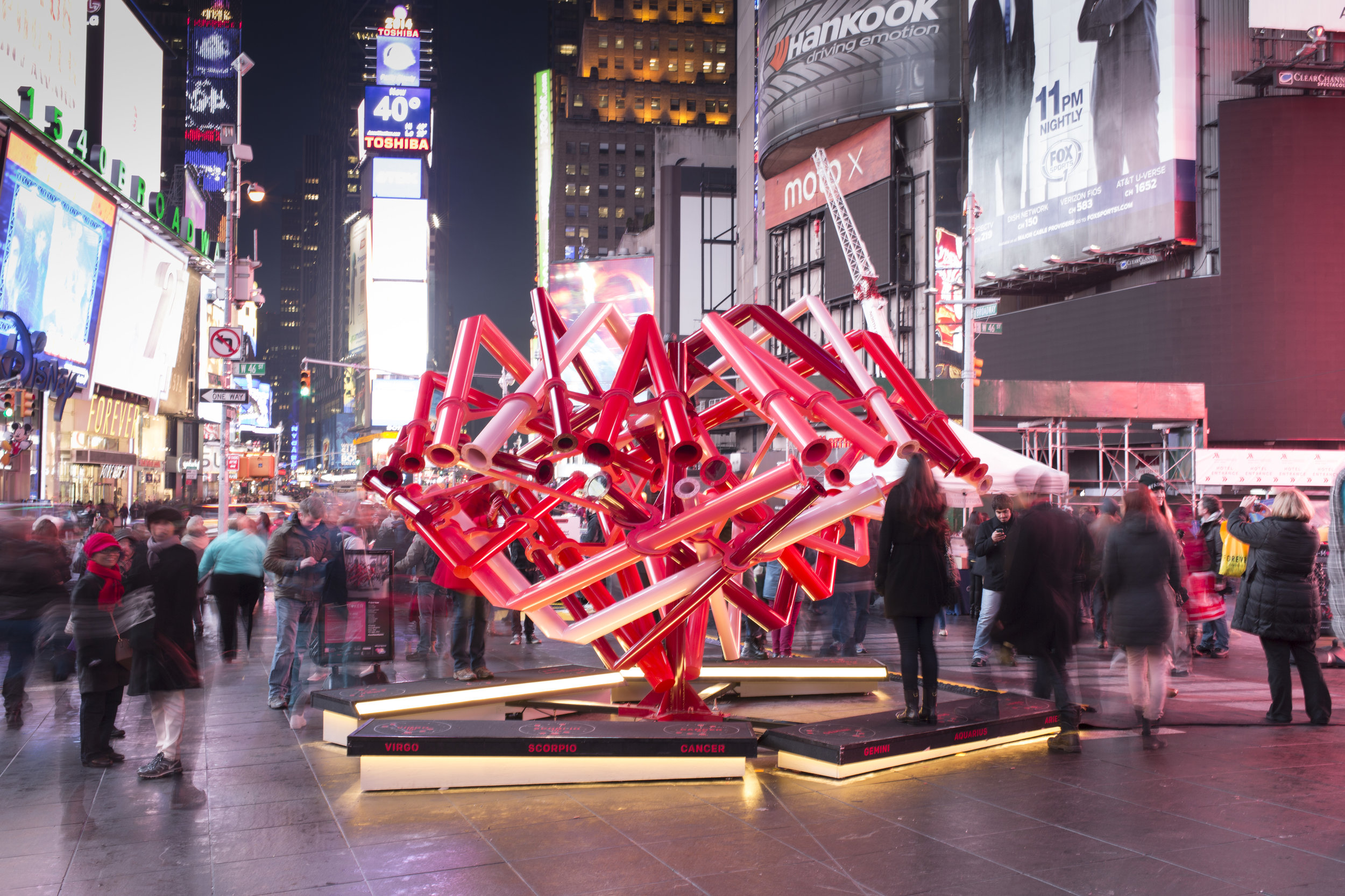 time square valentine heart  new york, new york