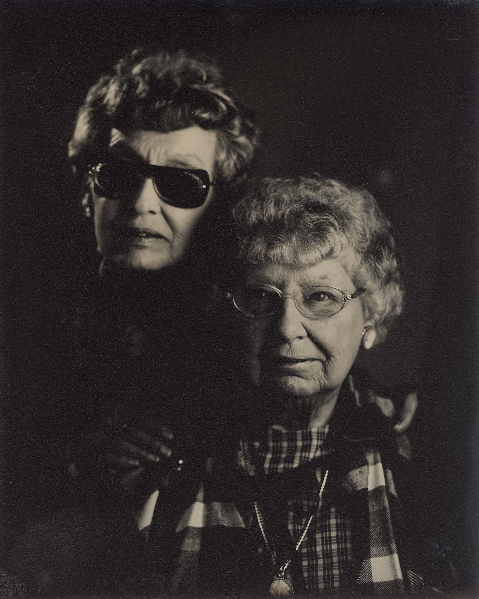Sisters. Tintype ©2018 Stephen Takacs