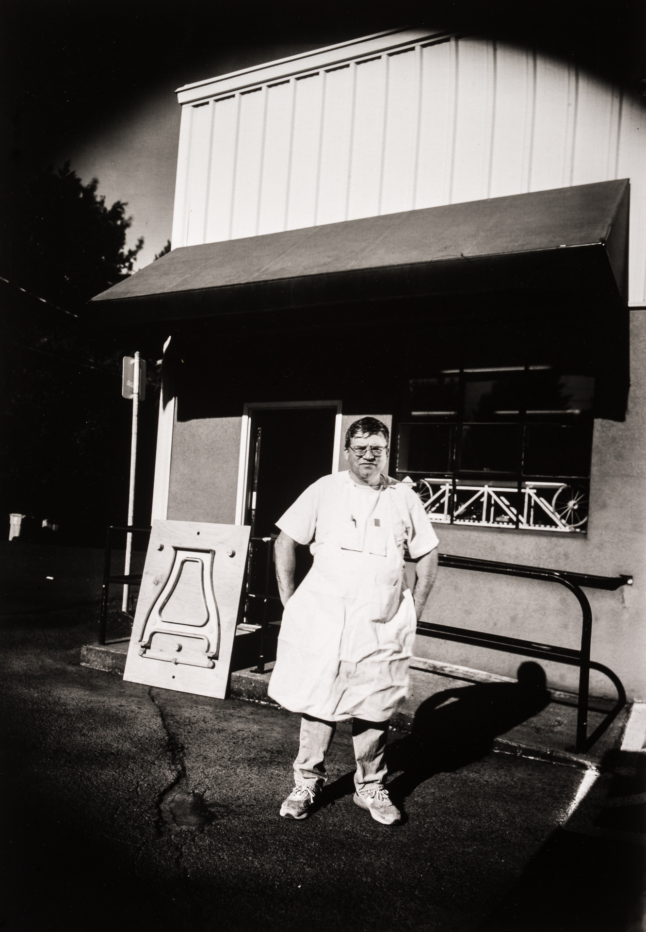 Portland Oregon-based pattern maker Gary Martin outside his studio. Photo ©2014 Stephen Takacs