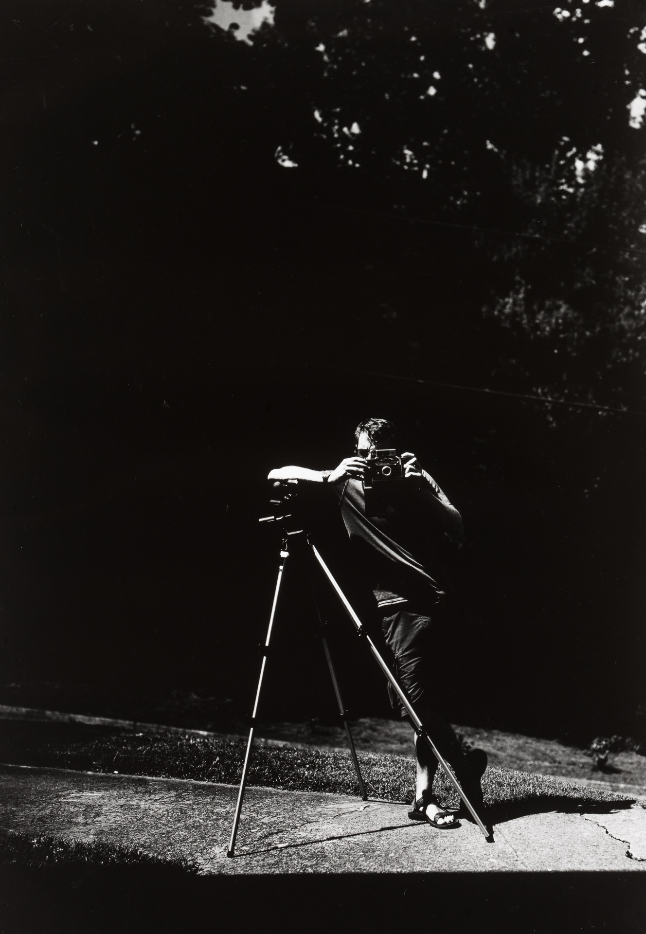 Polaroid photographer Jeremiah Stilson in Asheville, North Carolina. Photo ©2017 Stephen Takacs.