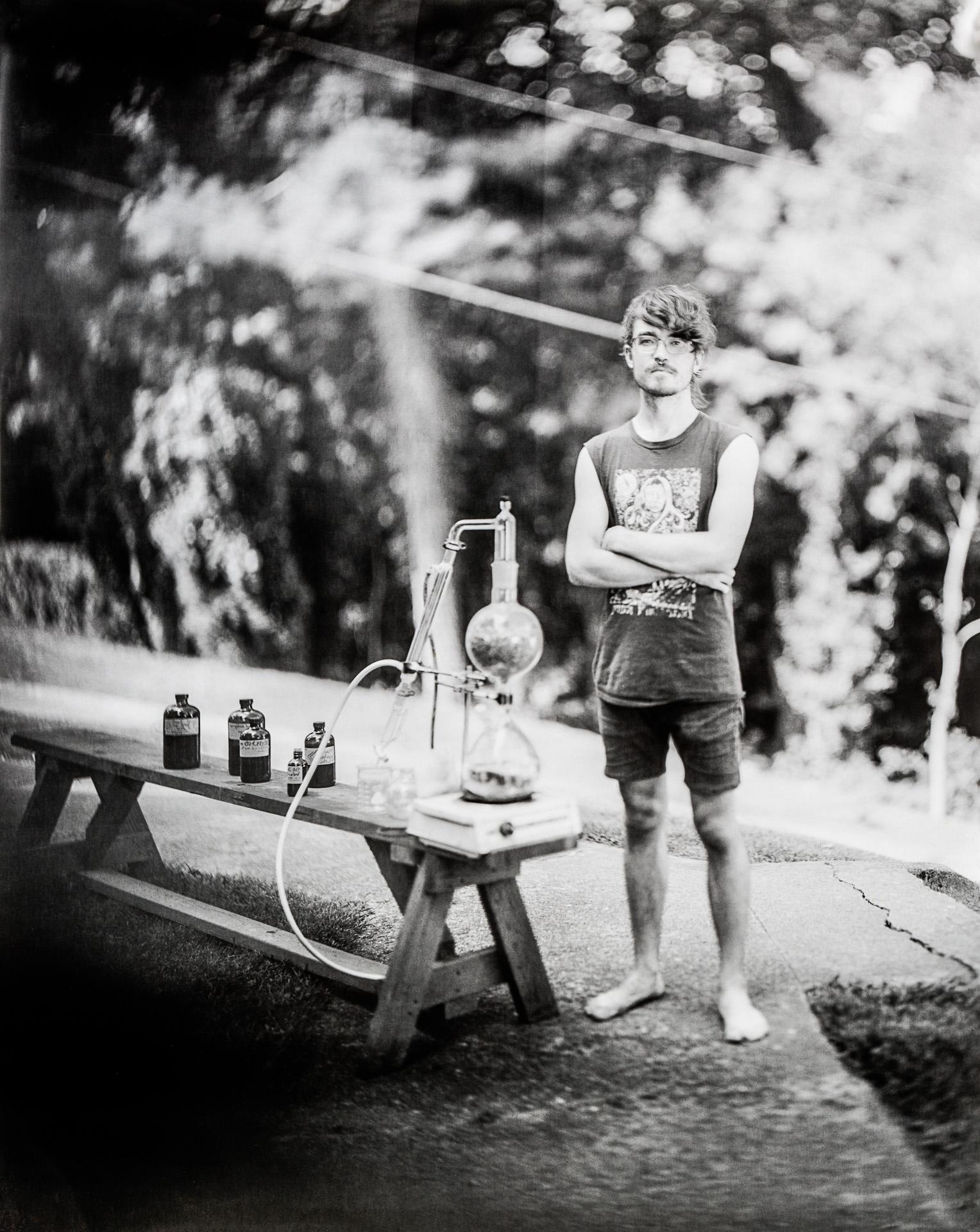 Portrait of Scott Hughston an herbalist in Asheville, North Carolina. Photo ©2016 Stephen Takacs