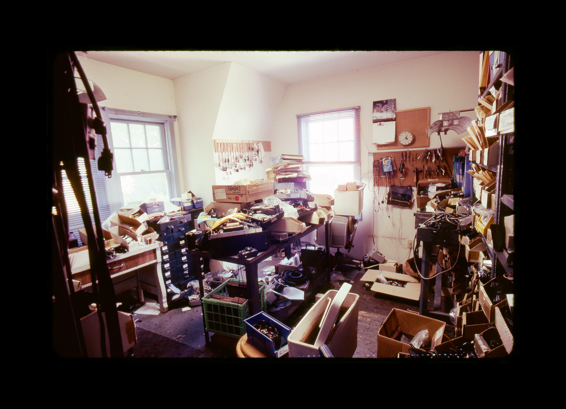 Former repair room at Associated Camera Repair in Portland, Oregon. Photo ©2010 Stephen Takacs