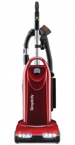 This is an image of a Simplicity upright vacuum cleaner.