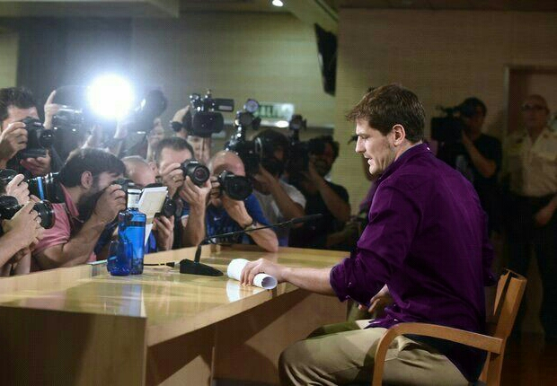 Casillas seen here during Friday morning's announcement