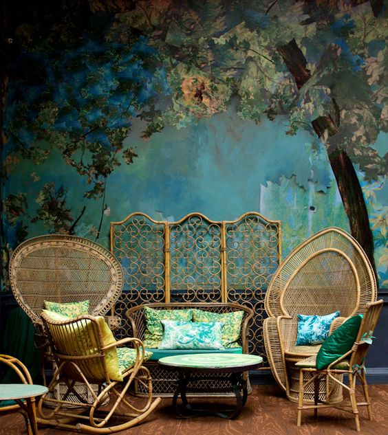 London bar, Glade, by designer Carolyn Quartermaine and Belgian artist Didier Mahieu.
