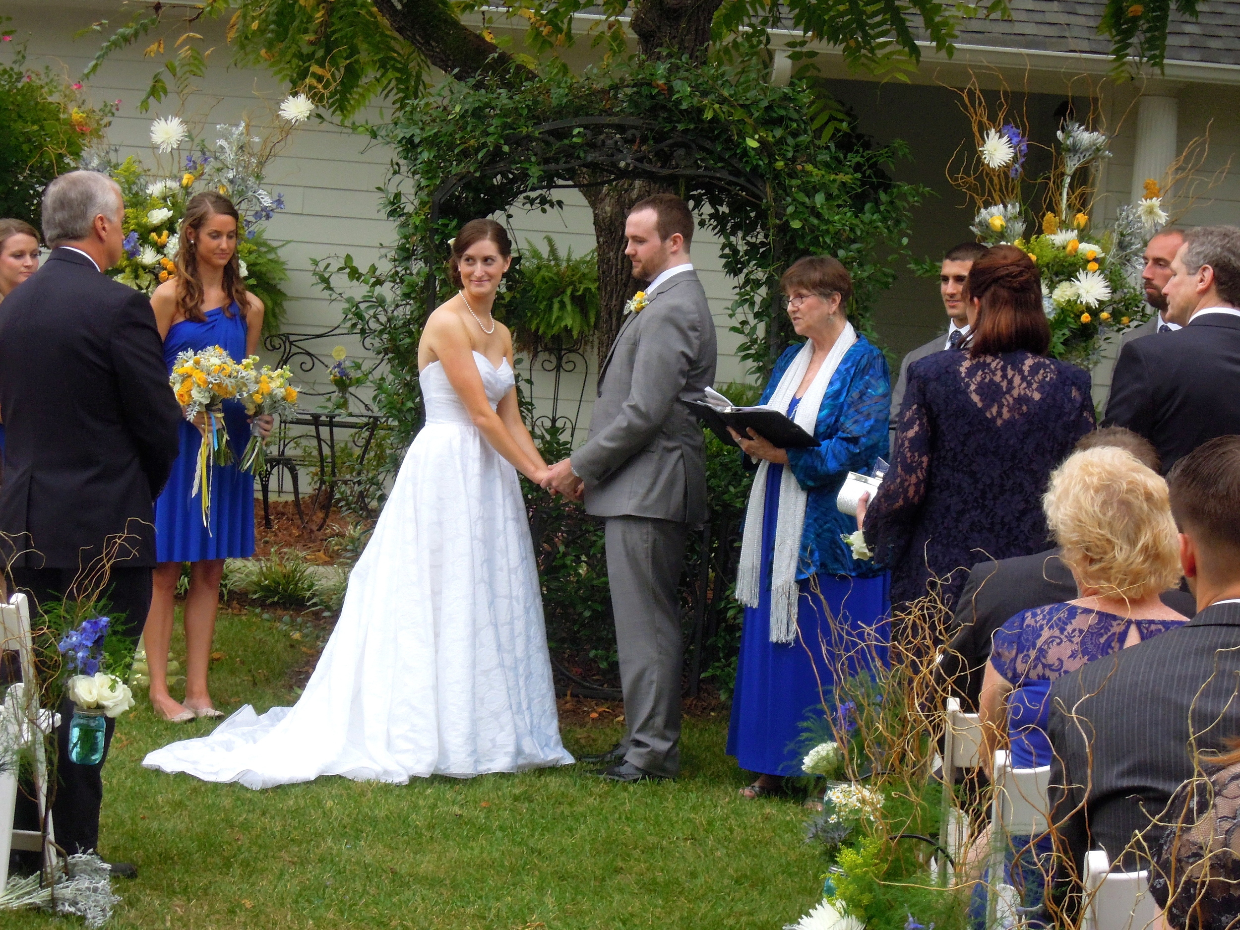 Wedding Ceremony at The Matthews House in Cary NC