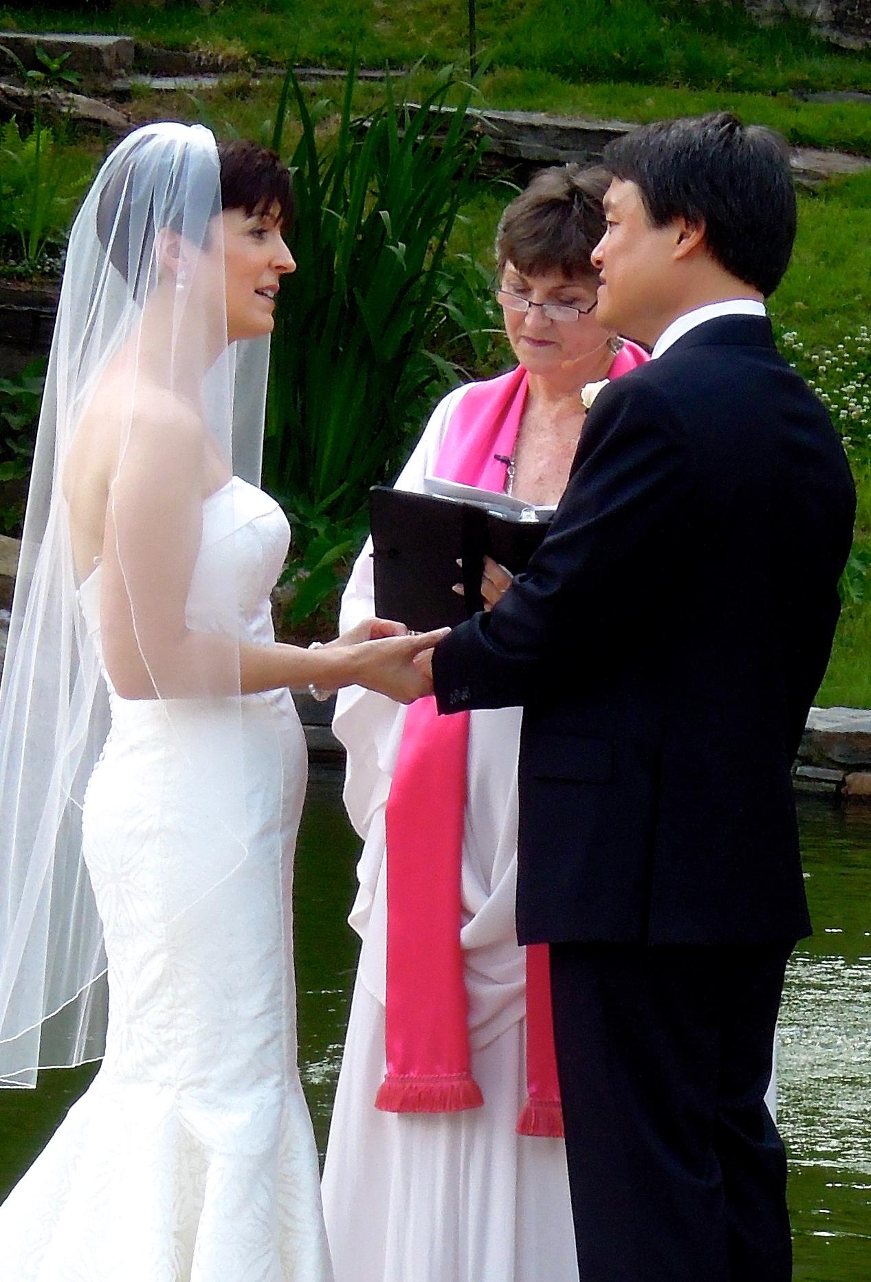 Duke Gardens Fishpool Wedding, Durham NC
