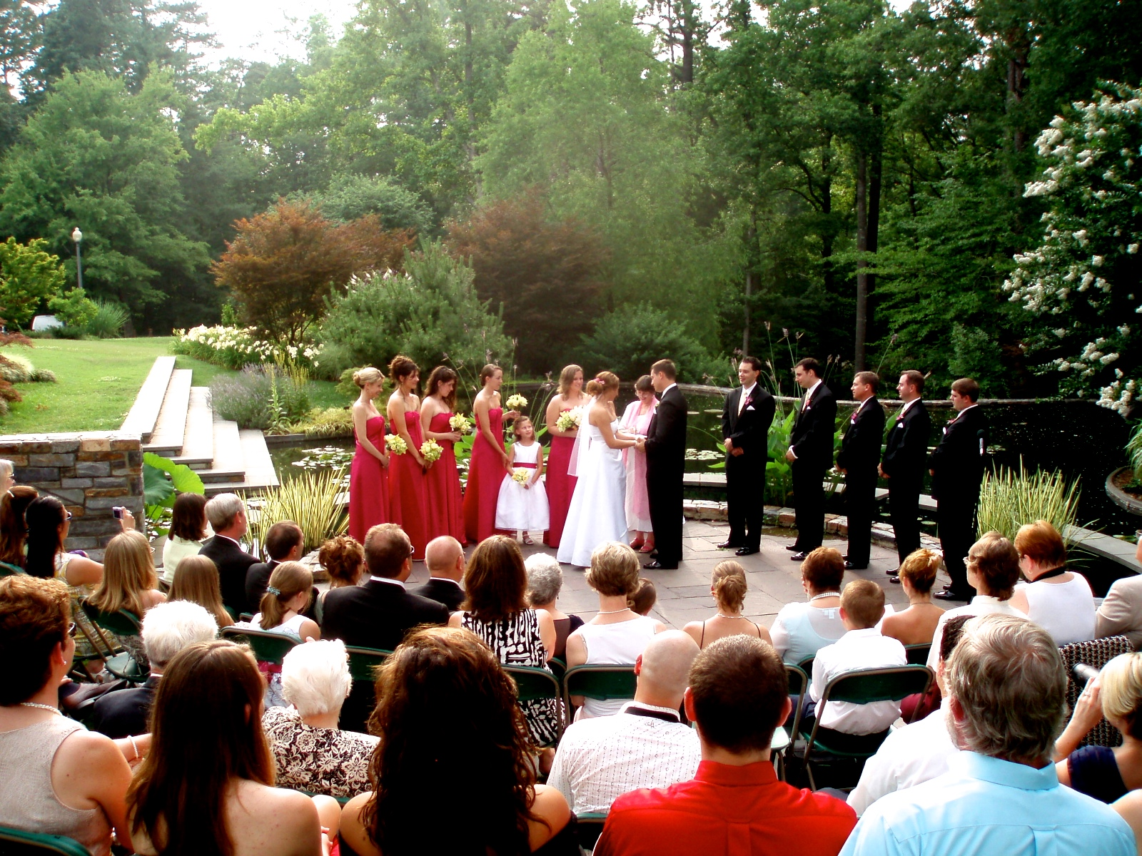 Wedding at Angle Amphitheater at Duke Gardens