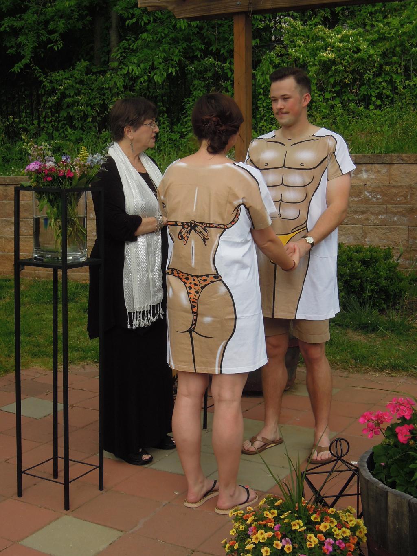 What a fun backyard wedding!