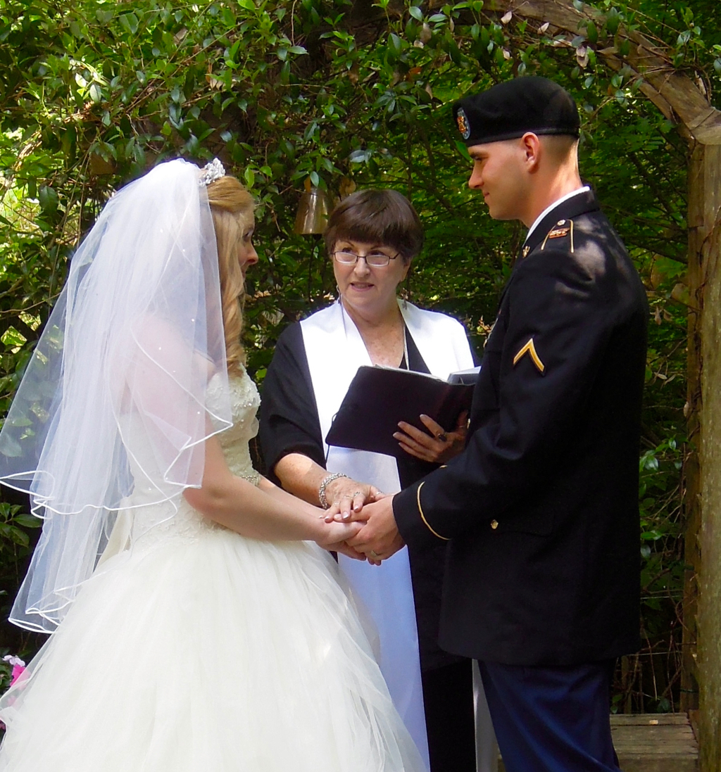 """Many military weddings are """"hurry-up"""" affairs and Kayelily is happy to accommodate these sweet couples."""