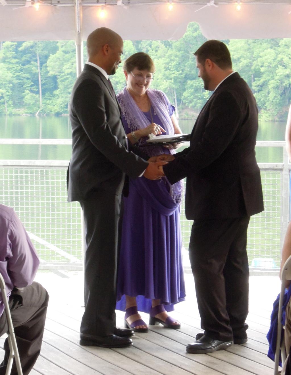 Antonio and Brian's Wedding at Lake Johnson Park