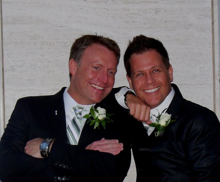 A couple of really handsome happy guys!