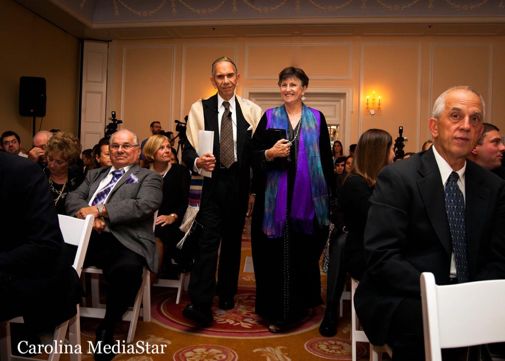 Co-officiating wedding with Rabbi Andrew Ettin at The Carolina Inn.