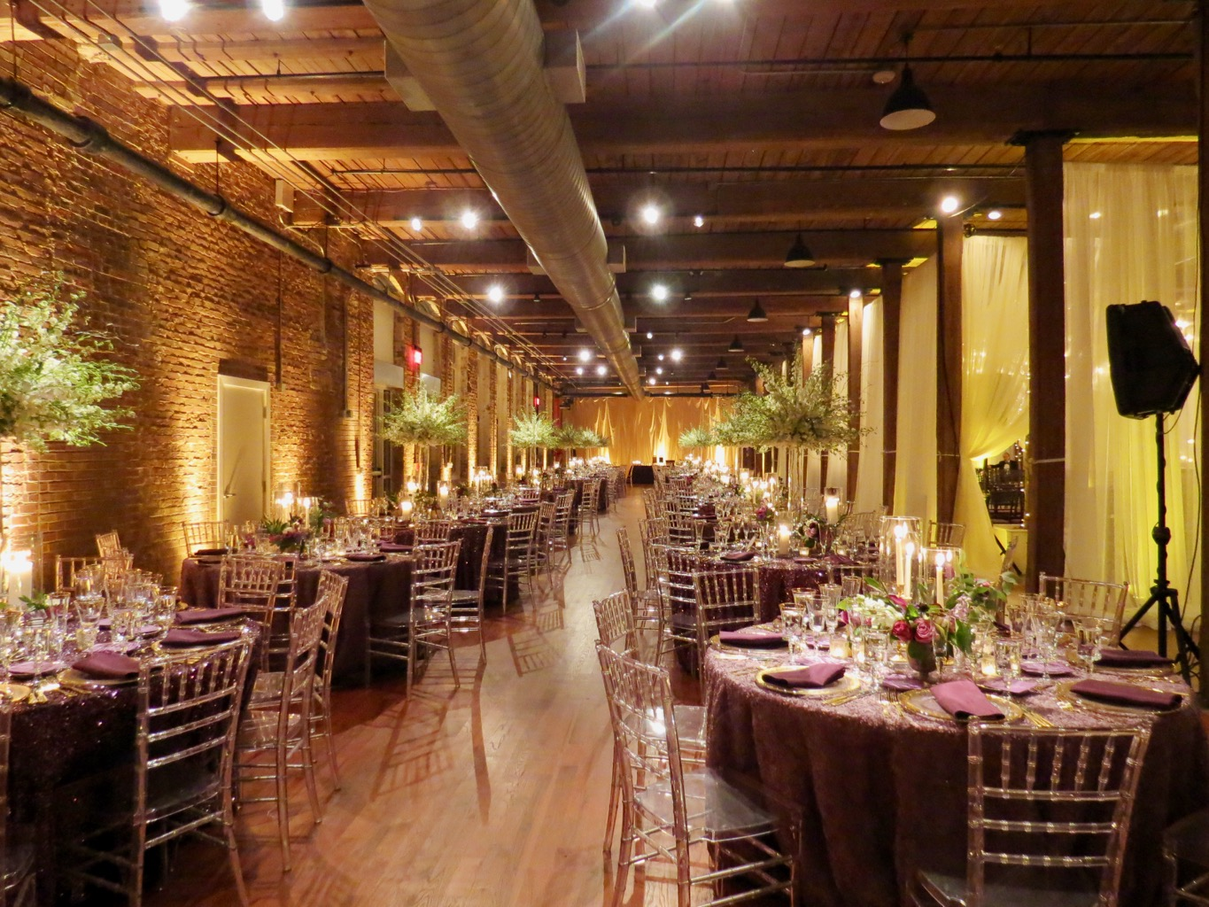 The Cloth Mill on the Eno all decked out for New Year's Eve wedding!