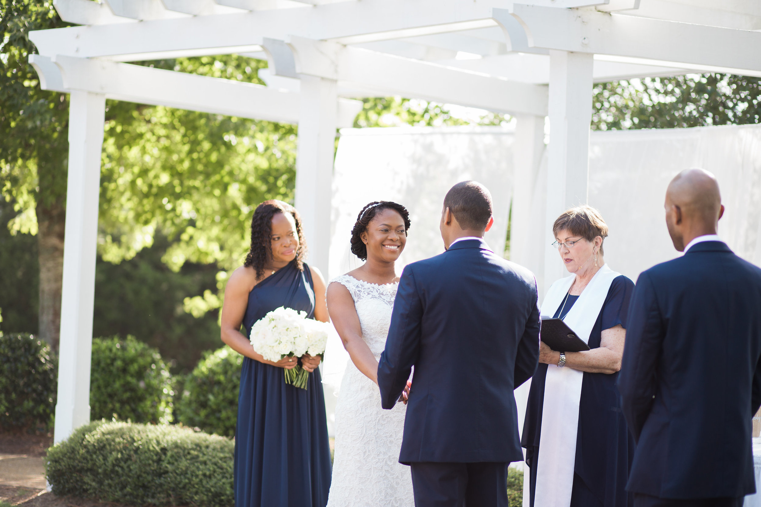 Brier Creek CC Wedding in the Jasmine Courtyard. Photos compliments of Story and Rhythm