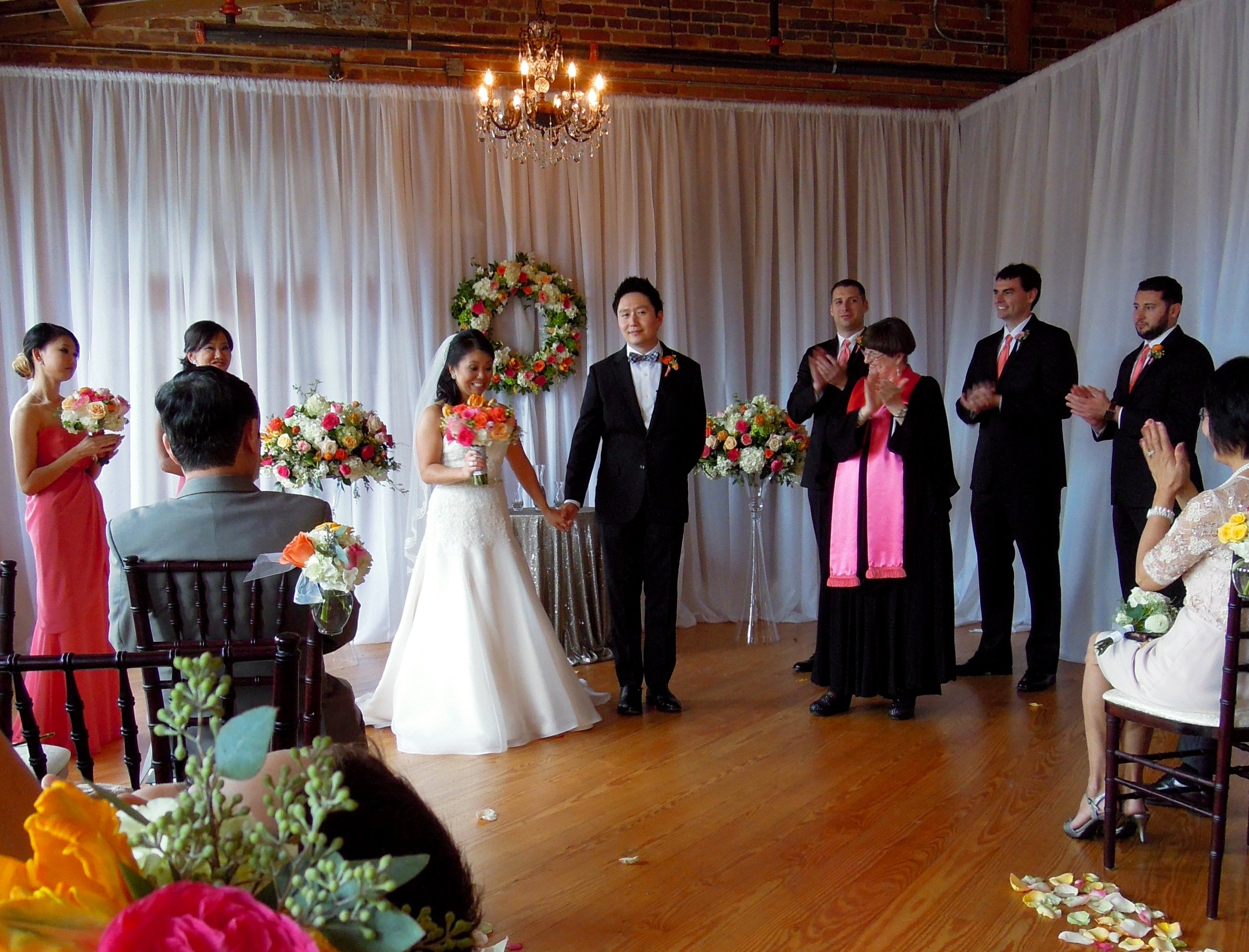 Melrose Knitting Mill in Raleigh Wedding