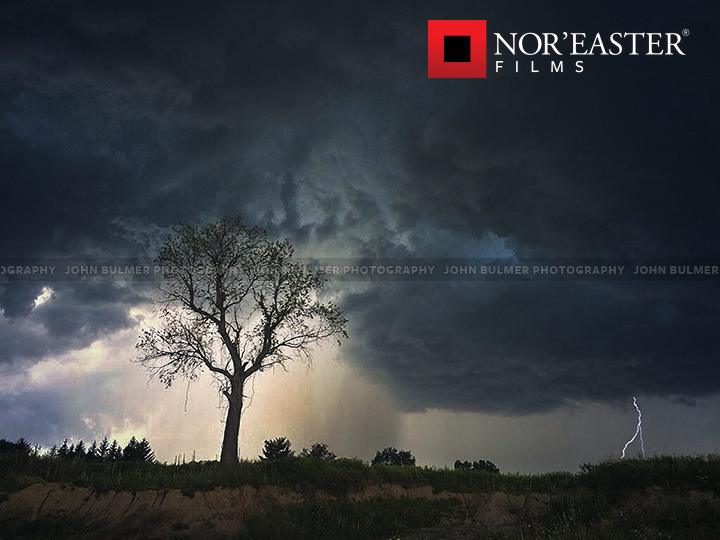 Lightning strike in Saratoga County, New York.