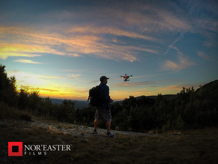 Launching from the highest point in Rensselaer County for sunset aerial footage.
