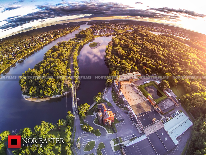 Above Peebles Island State Park in Cohoes, New York