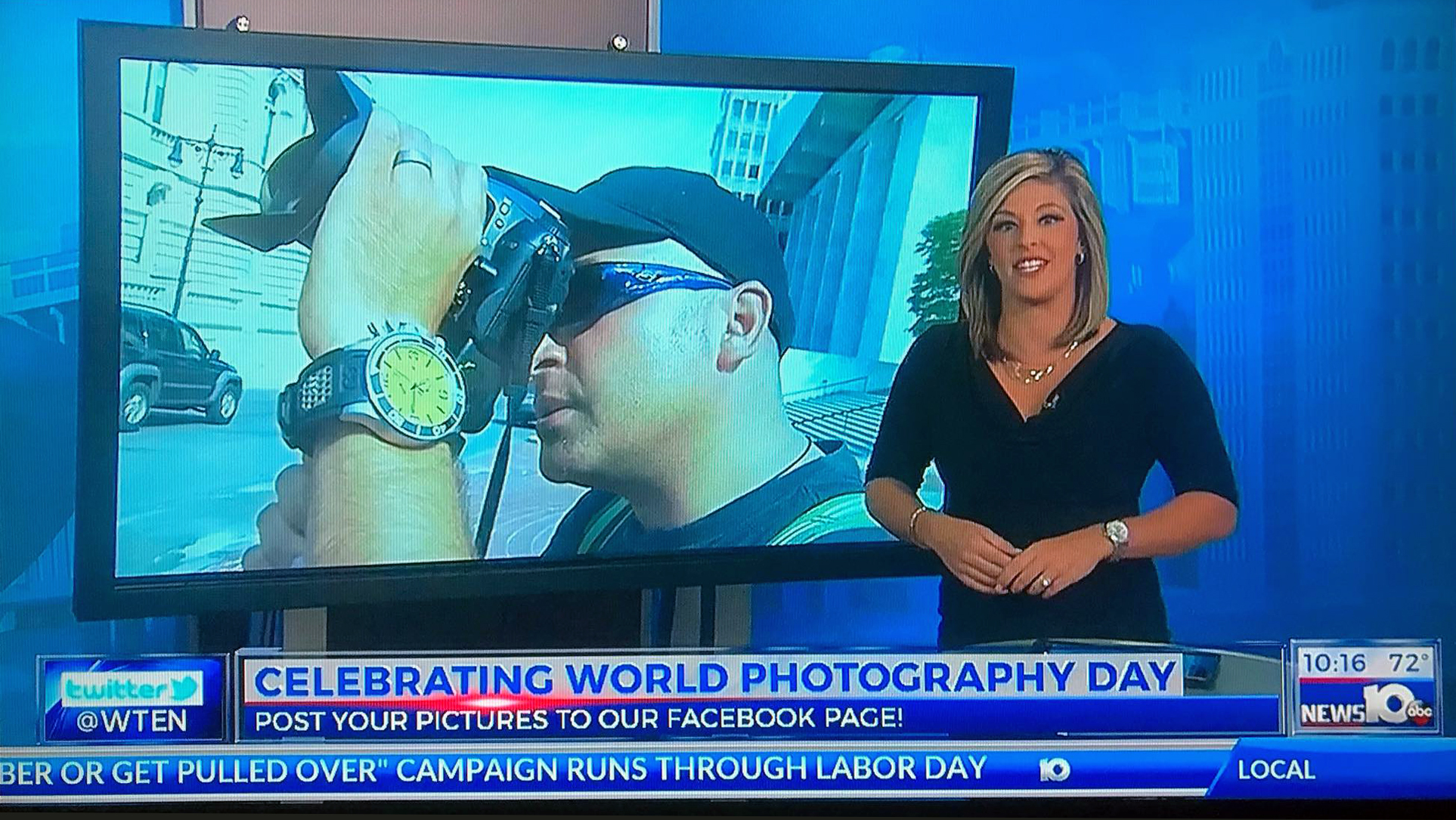 Celebrating World Photography Day on WTEN News10 ABC