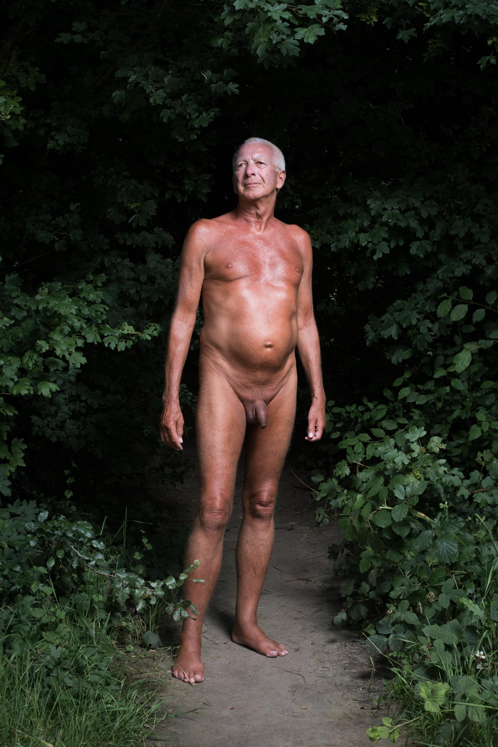 This was the second season of the espace naturiste, a clearing in the Bois de Vincennes in Paris where nudism is sanctioned.  I got naked and shot this series there in June.
