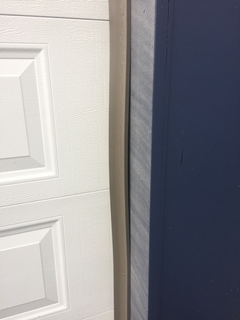 Door casing not properly attached