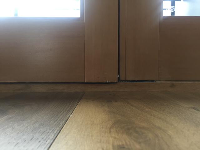 Misaligned double door