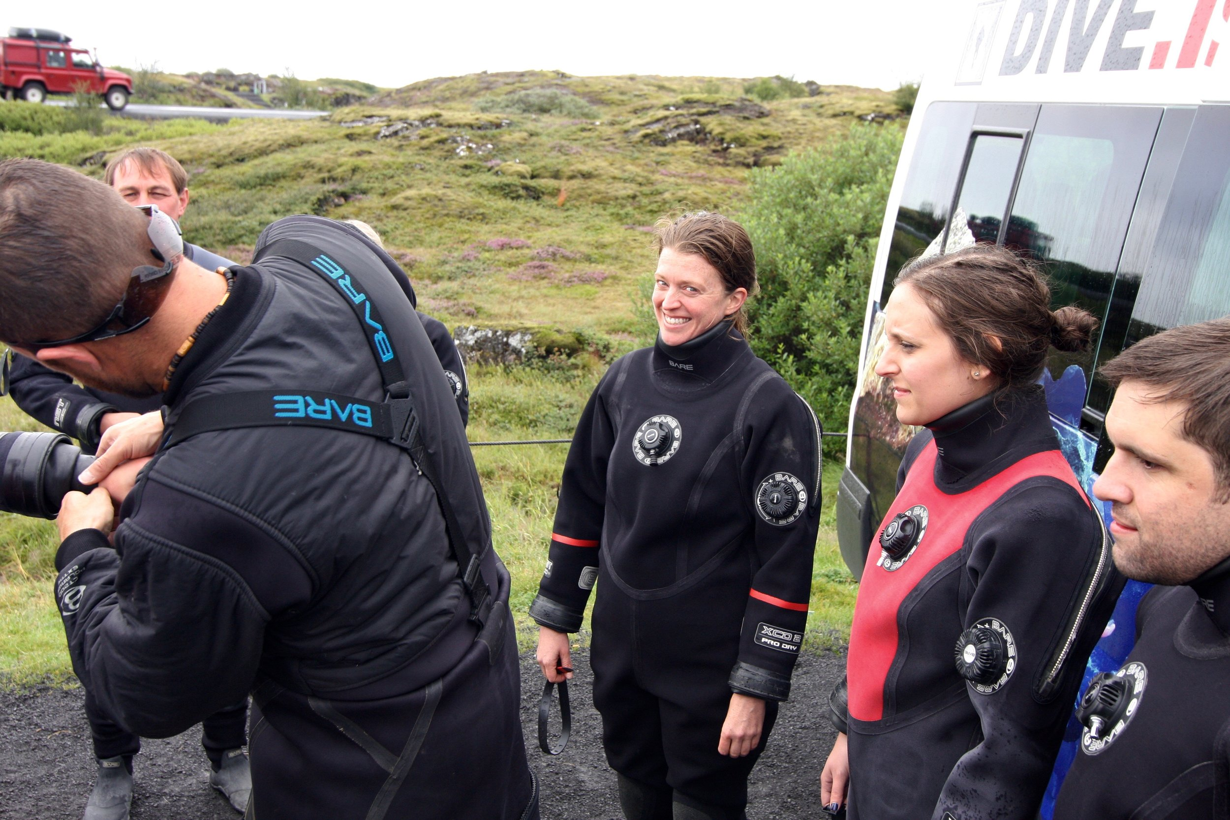 Getting suited up for the Silfra Fissure, one of the most peaceful and beautiful things I have floated through