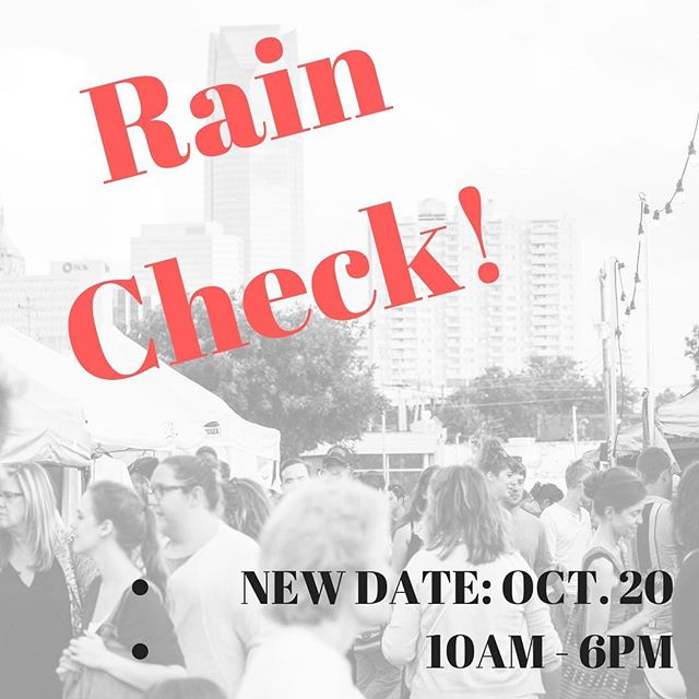 We couldn't keep the rain away for Saturday so we are rescheduling the Fall Flea! Update your calendars to Oct. 20. The Flea will be popped up at 10th & Hudson from 10AM to 6PM in conjunction with the Midtown Walkabout!