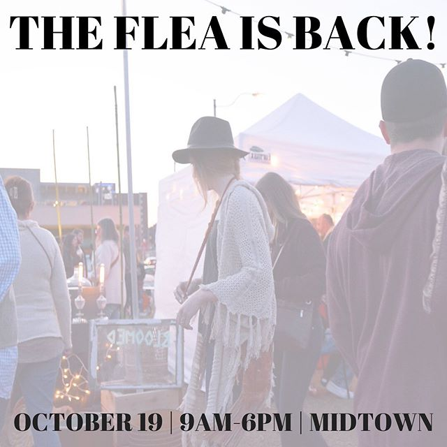 Mark your calendars: the Industry Flea is coming back to @midtownokc October 19!  Artisans, vintage dealers and shopkeepers: apply today at industryflea.com/apply.