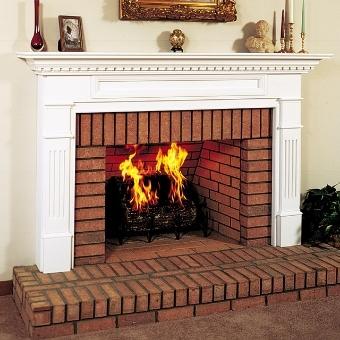 Traditional Masonry Fireplace