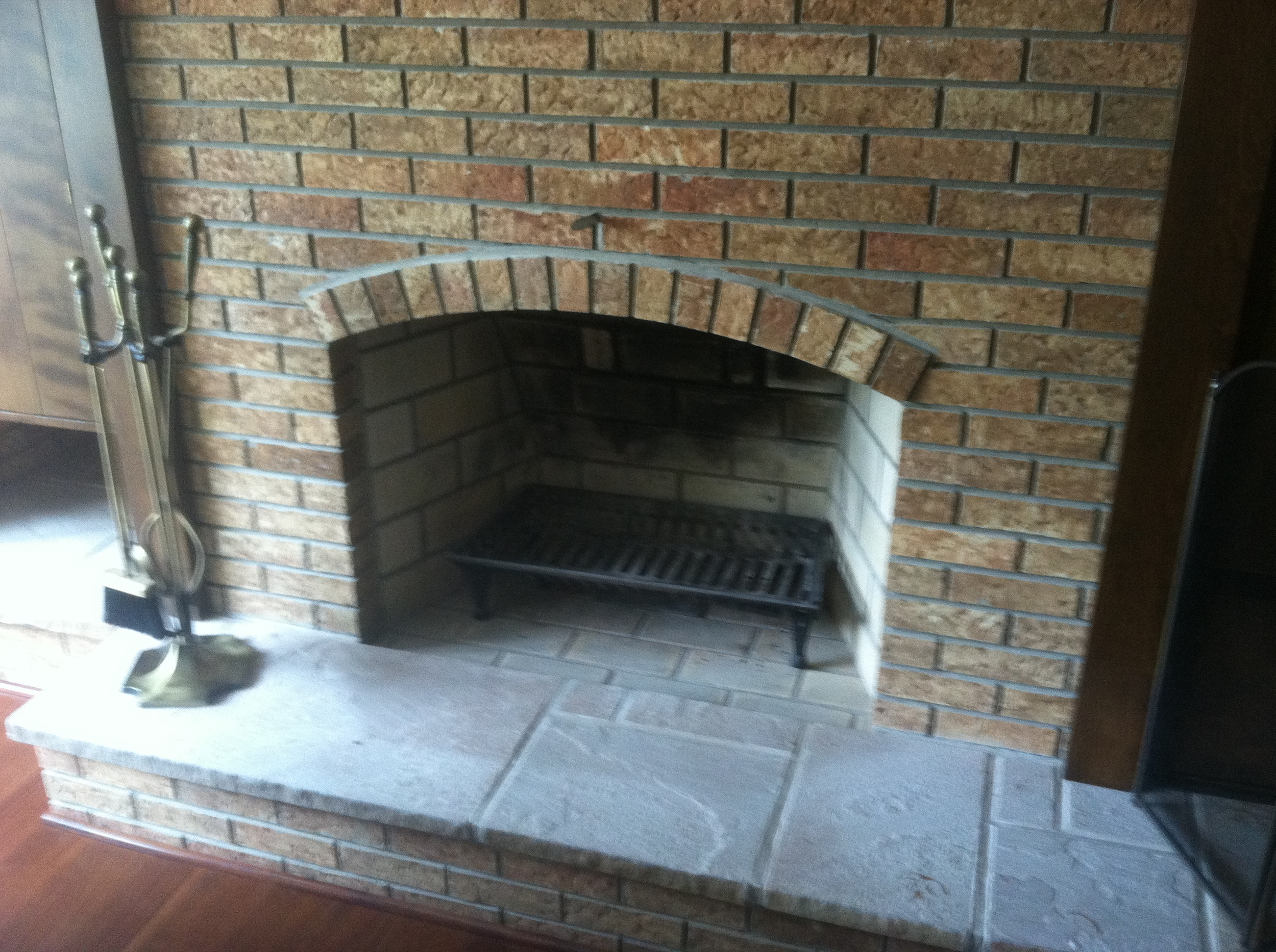 Arched Fireplace Opening