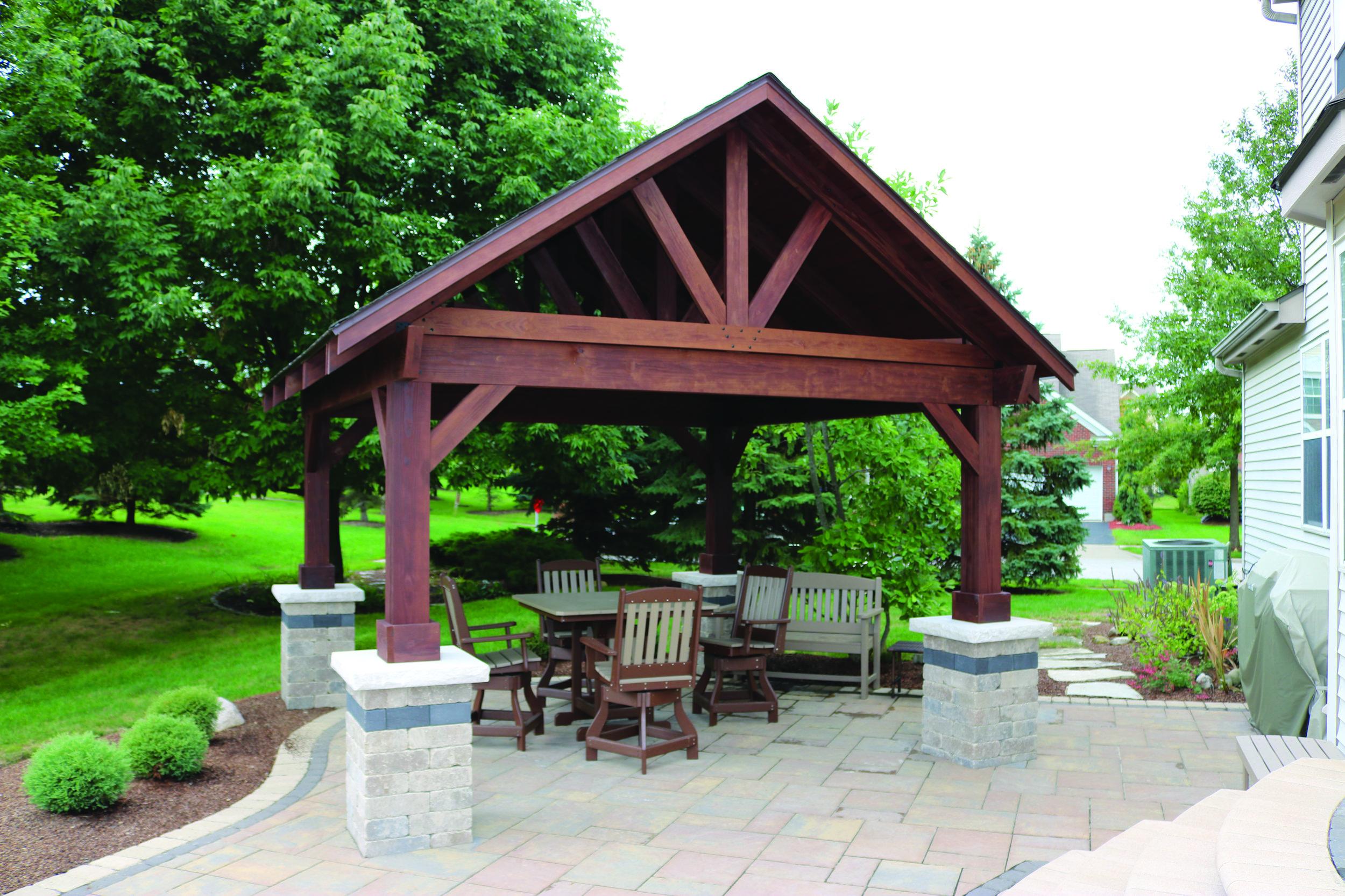 Breckenridge Pavilion -Mahogany Stain.JPG