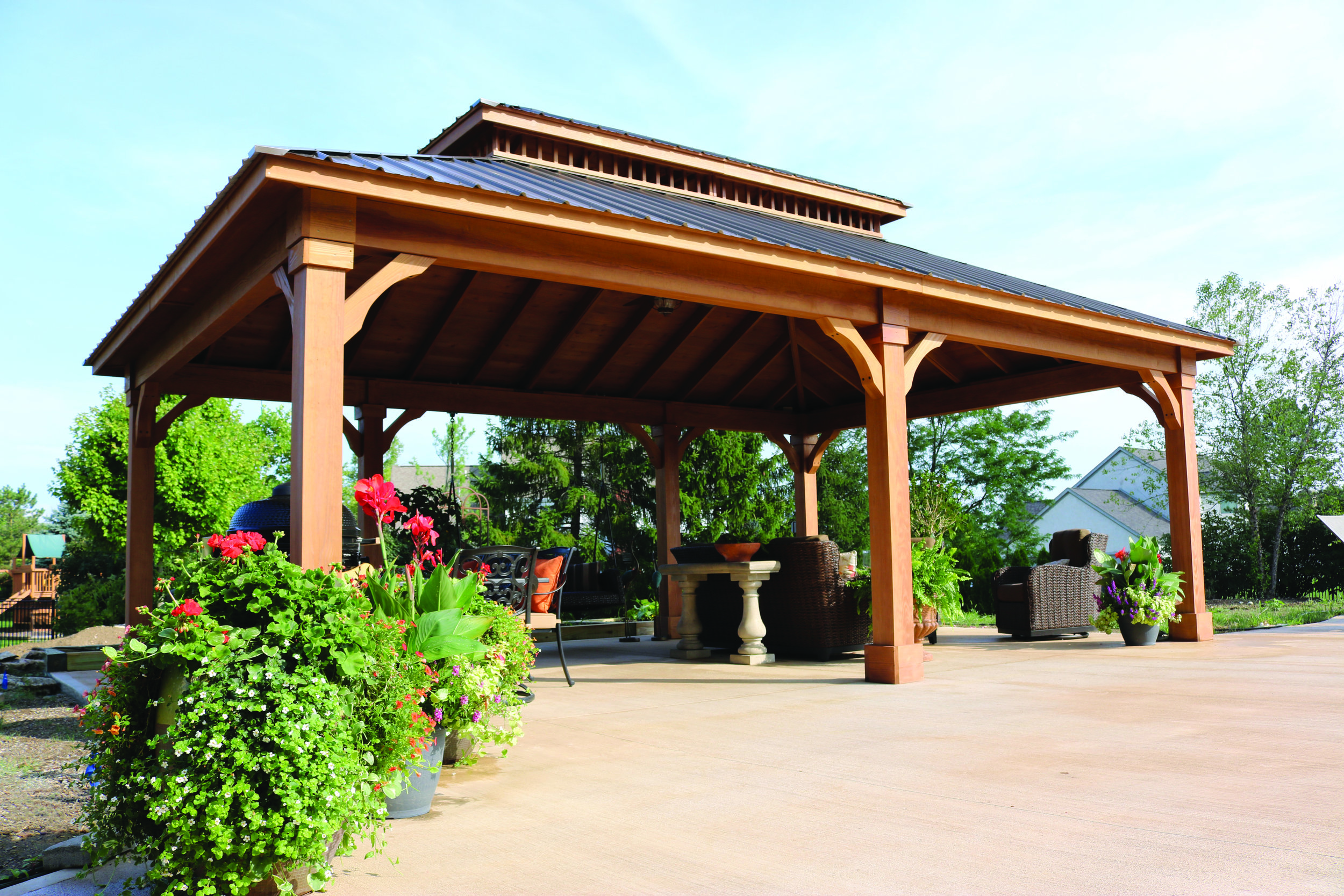 Cascade Pavilion Custom back beam.JPG