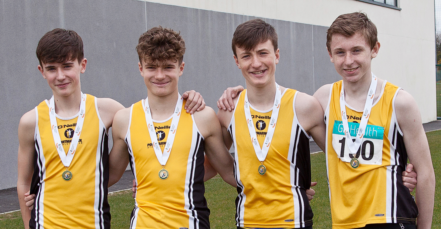 U15 4x200m relay national gold medalists