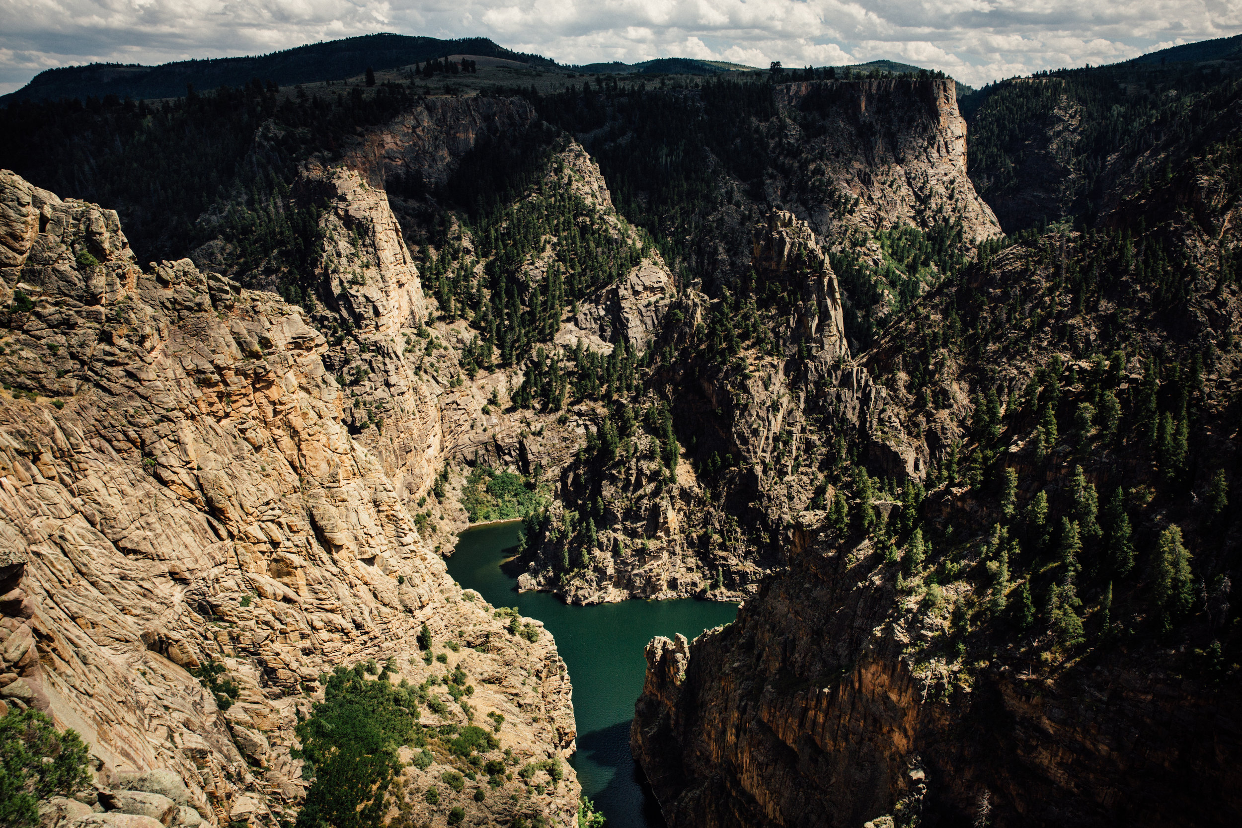 Gazing down on Morrow Point reservoir in the Upper Black Canyon of the Gunnison.