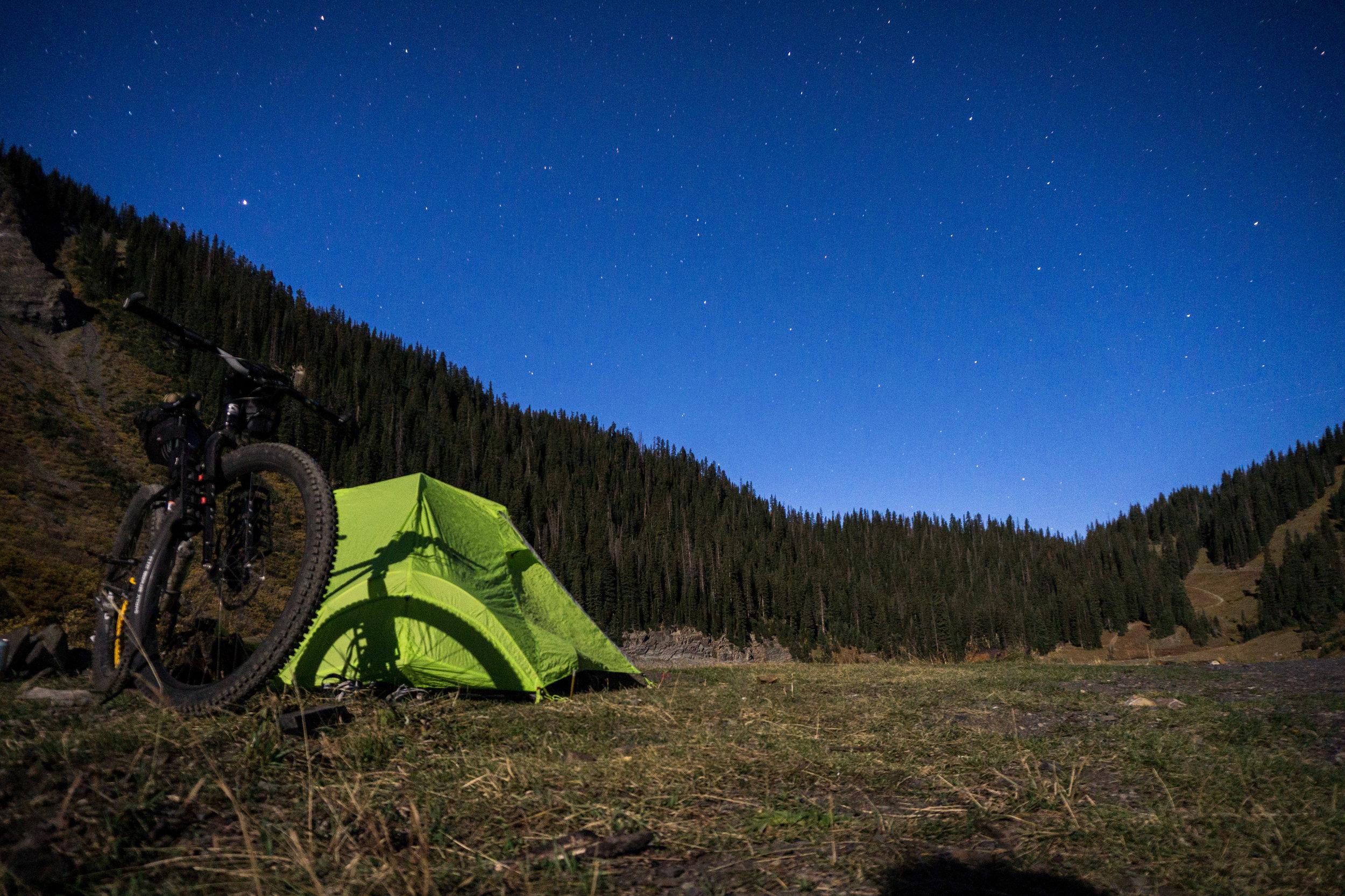 Camped at Emerald Lake.