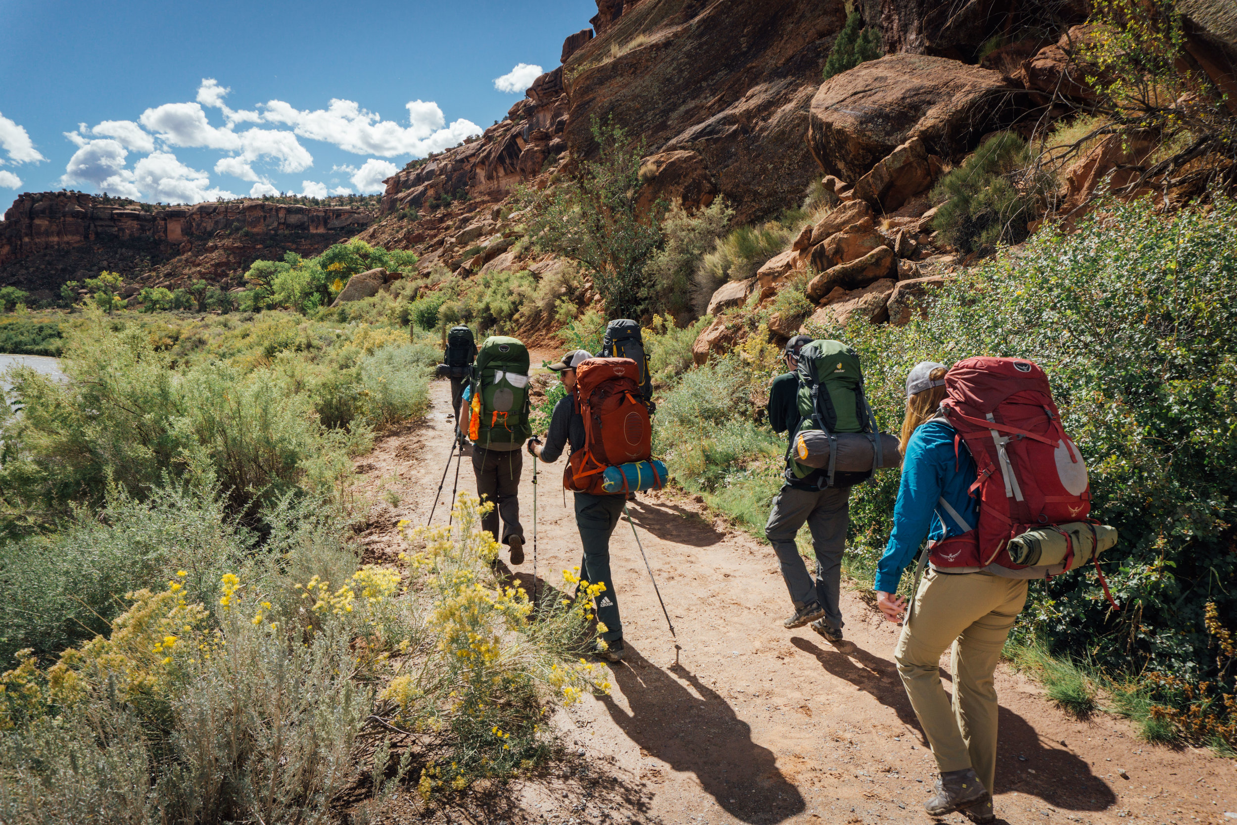Hiking along the Gunnison from Bridgeport, to Little Dominguez Canyon.