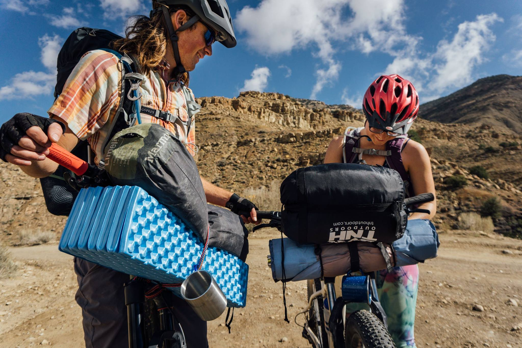 Sean and Autumn successfully completed a Bikepacking trip with no dedicated bags to speak of! Getting creative with straps can suffice just fine for overnighters.