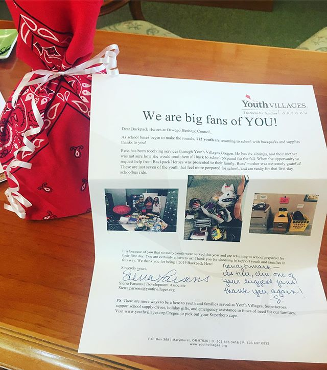 Feeling the love from Youth Villages. So grateful for this relationship! #youthvillages