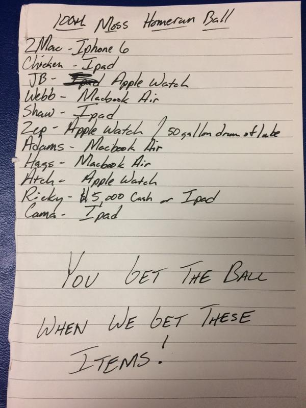Picture tweeted by Cleveland Indians. It's a ransom note to Brandon Moss!