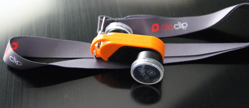 OLLOCLIP ACTIVE LENS, CLIP, AND LANYARD. Photo ©2015, Steven Sande. All rights reserved.