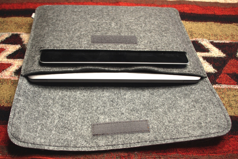 inateck mp1200 felt sleeve for 12-inch macbook. photo ©2105, steven sande. all rights reserved.
